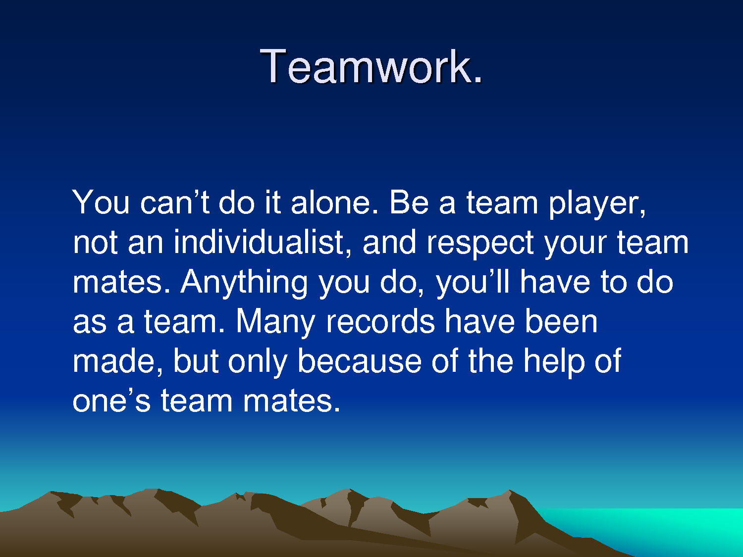 Teamwork Quotes For Work Teamwork Is The Ability To Work Together Toward A Commaon