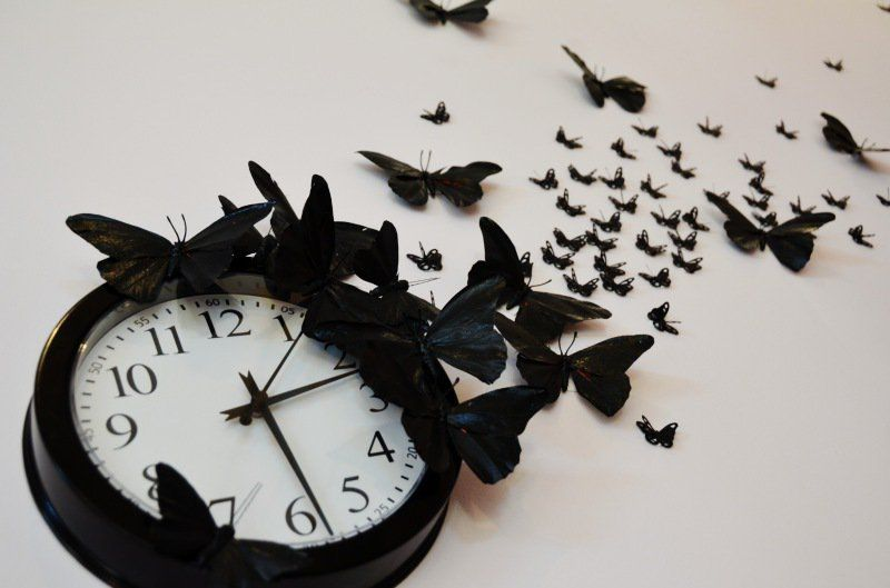 "Mr. Kate | DIY ""time flies"" butterfly clock"