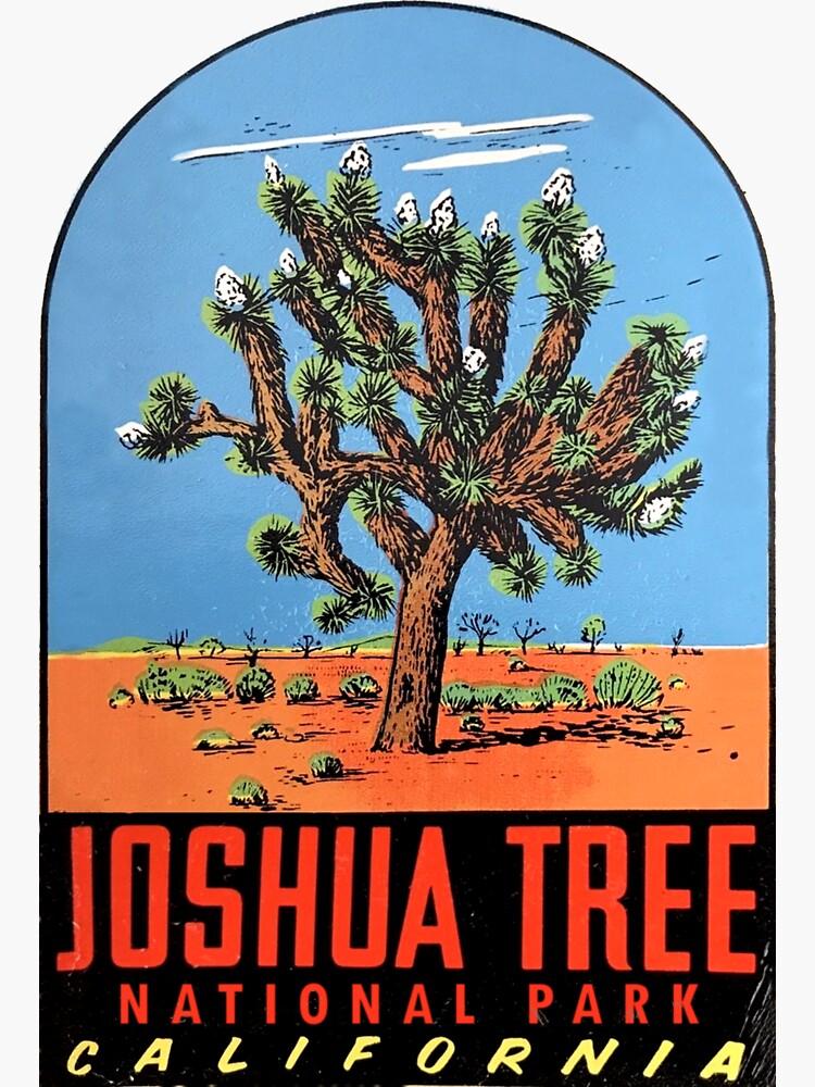 Joshua Tree National Park Vintage Travel Decal Sticker By Hilda74 Redbubble Vintage Travel Joshua Tree National Park Joshua Tree California
