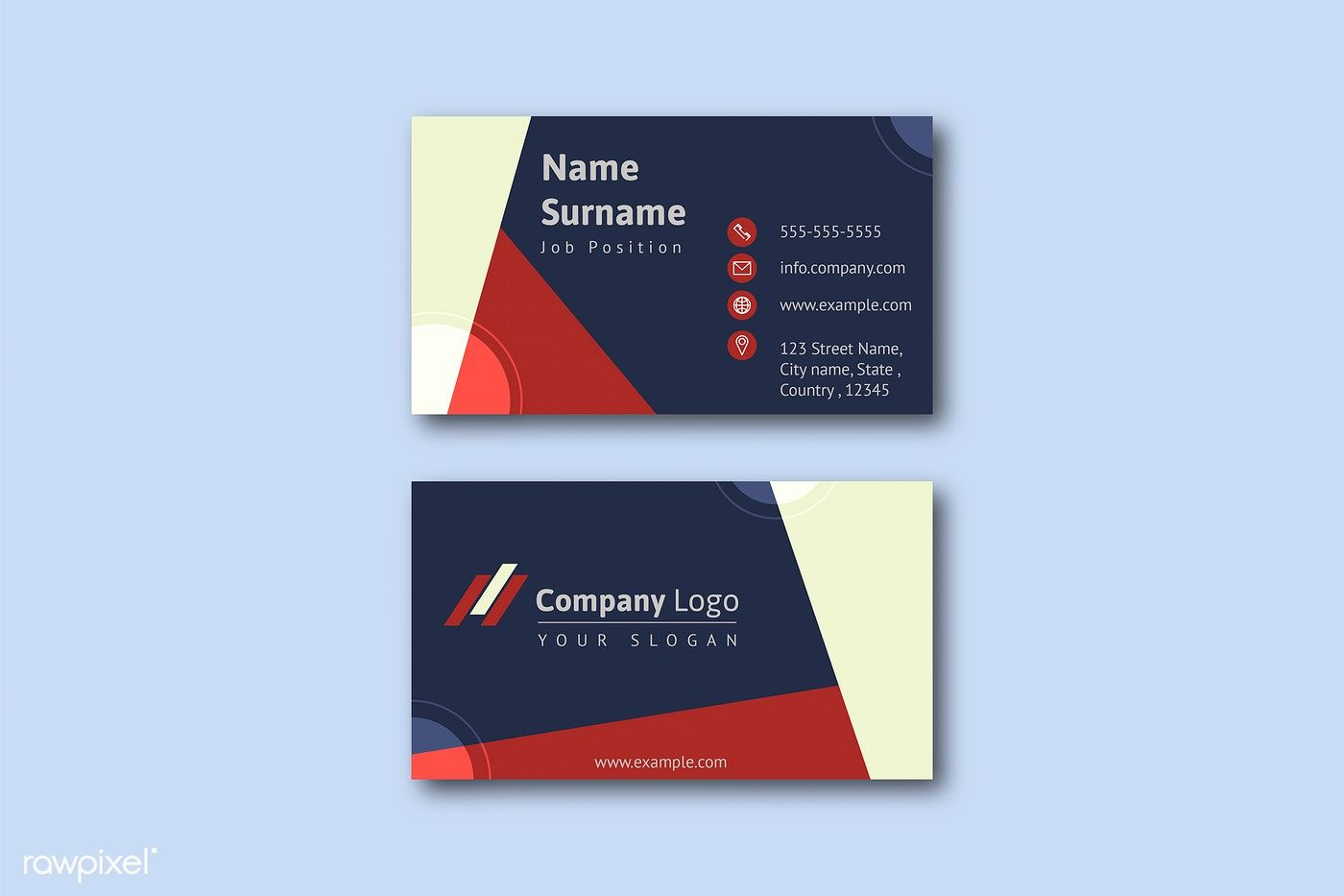 Free Colored Edge Front Back Business Card Mockup Psd Business Cards Mockup Psd Business Card Mock Up Free Business Card Mockup