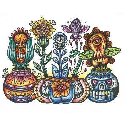 - Crayola Art With Edge Sugar Skulls Coloring Book In 2020 Crayola Art, Skull  Coloring Pages, Skull Art