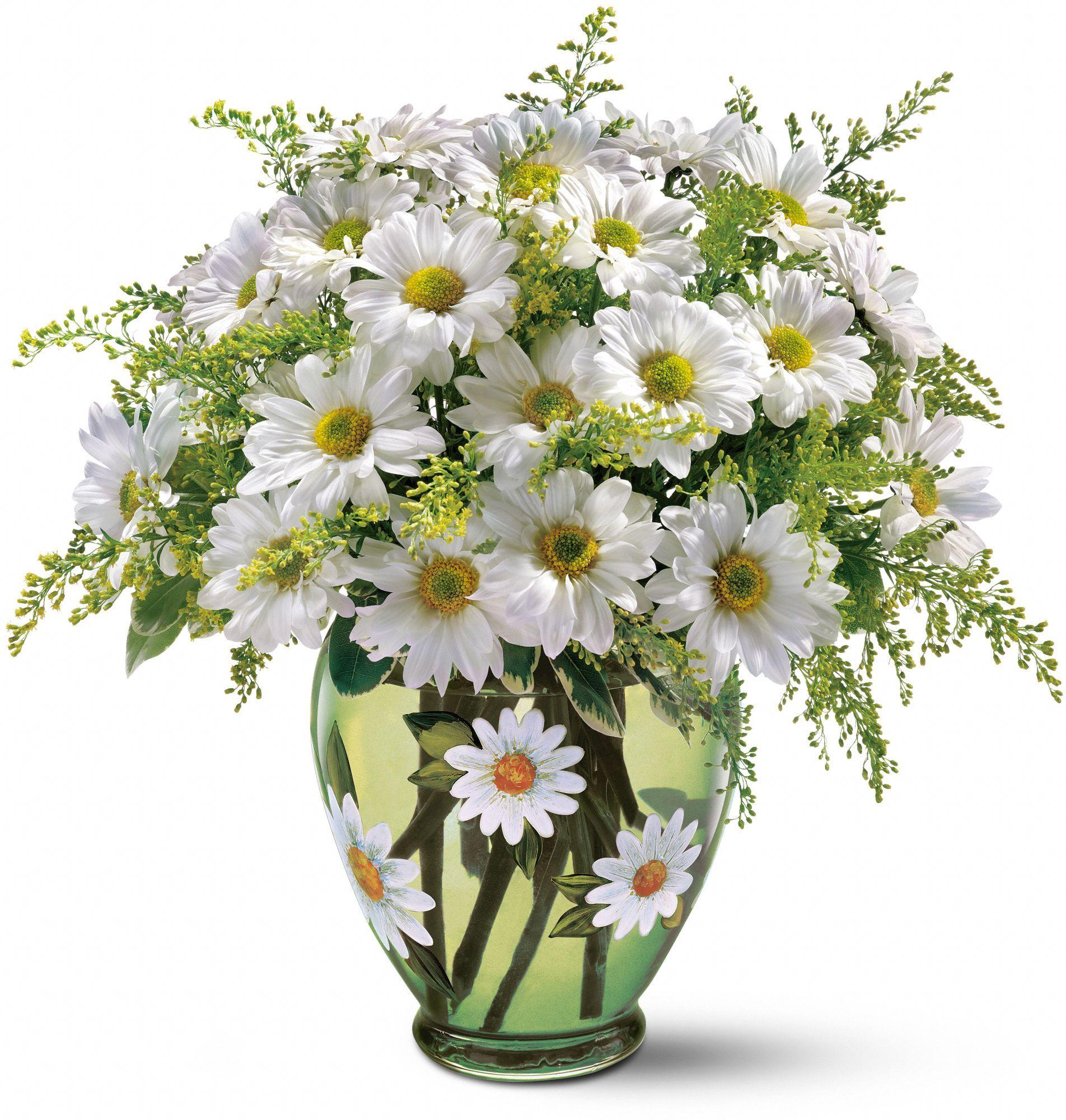 Telefloras crazy for daisies bouquet the vase is a bit much cut flowers dhlflorist Choice Image