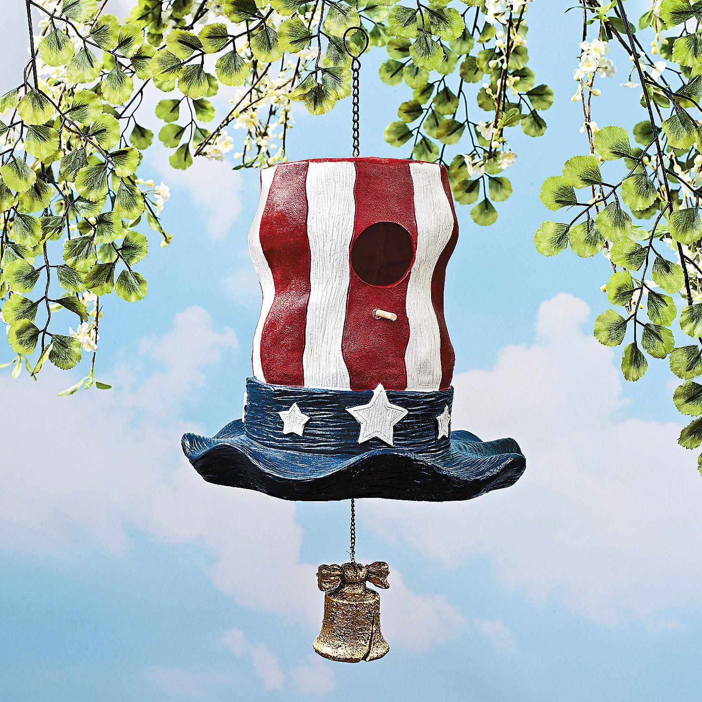 Uncle Sam Hat Birdhouse - TerrysVillage.com