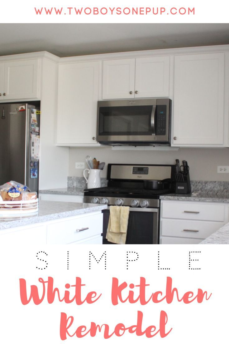 A Renovation Update Of Our White Kitchen Remodel. We Removed Our Builderu0027s  Grade Cabinets That
