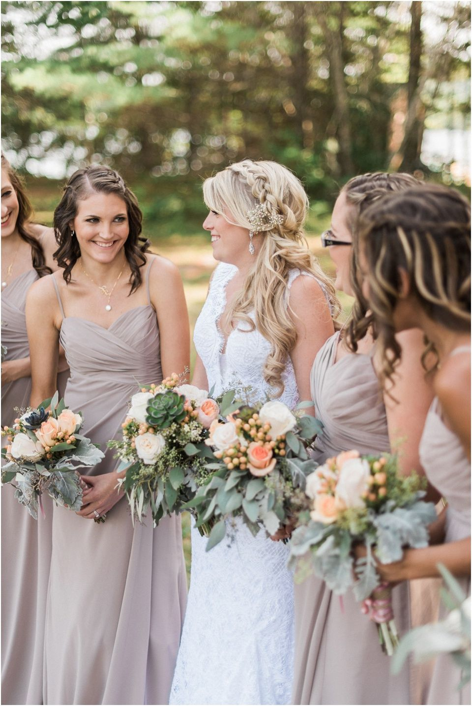 peach & brown new hampshire white mountains wedding | © melissa