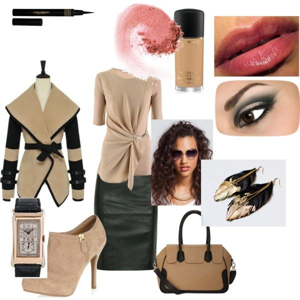 work skirt and heels, created by dress2the9s on Polyvore