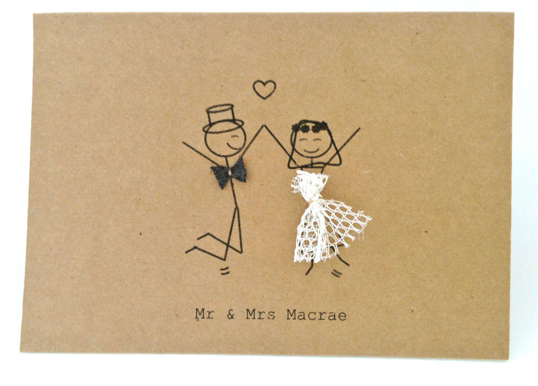 Mr Mrs Stick Figures Thankyou