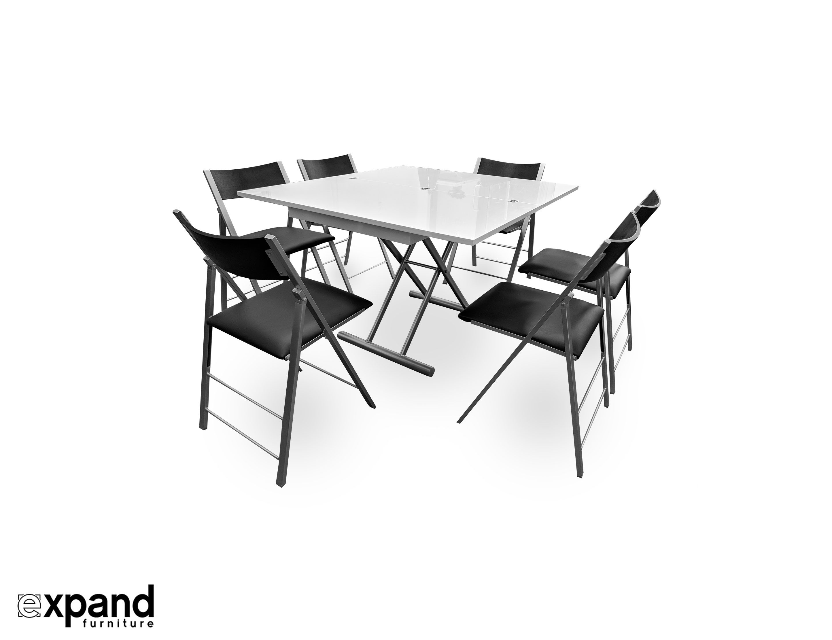 The Alzare Raising Coffee Dining Table Set Dining Table Table