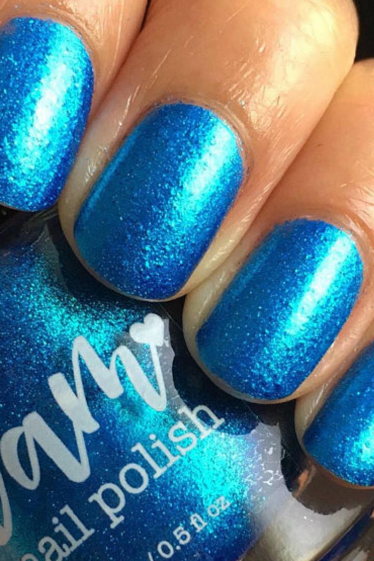 Pin by Jessica Malouff on Nails | Pinterest | Metallic nails, Blue ...