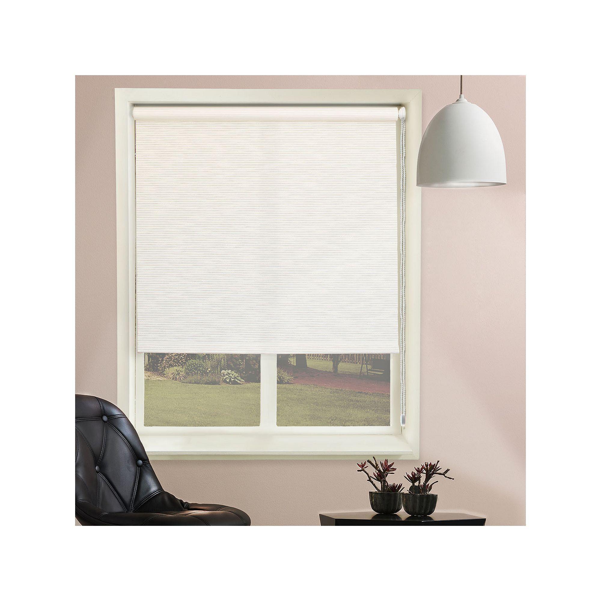 Chicology Textured Roller Shade White Blindsforwindowsapartments House Blinds Blinds For Windows Graber Blinds