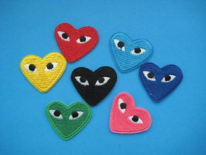 Comme Des Garcons Patch Embroidered Iron On Cdg Play Japan Love Heart All Colors Iron On Embroidered Patches Cool Patches Embroidered Patches