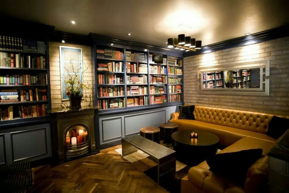 Image result for basement library