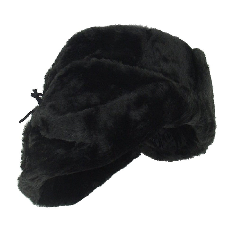0e25a6802ccdc Russian Winter Hat  Shapka-Ushanka BLACK Size L (metric 60 ...