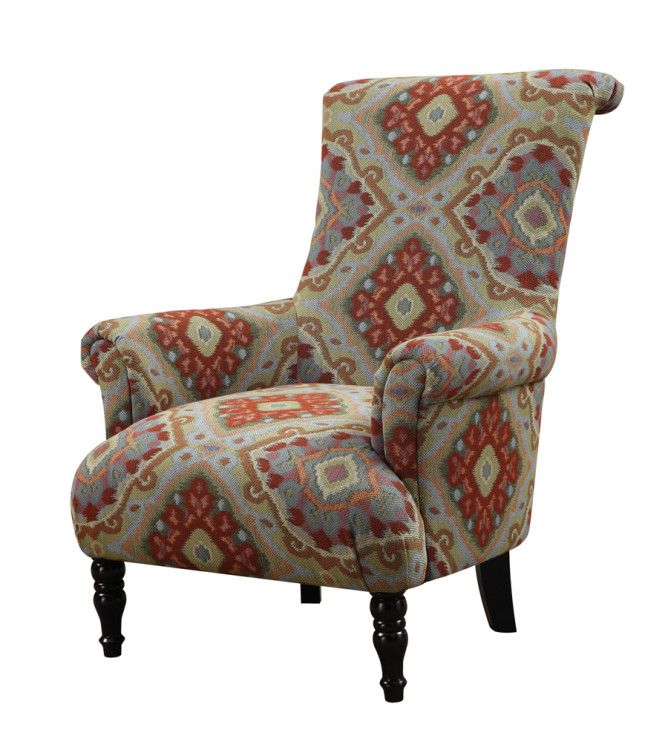 Accent Chair Red Yellow Multi Color Pattern Red Sofa Company