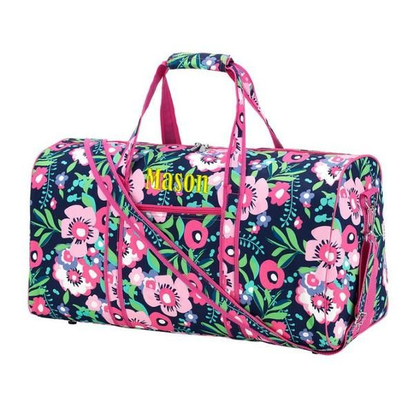 e24e11dd105 Personalized Floral Duffel Bag Personalized Floral Large Duffel Bag Floral  Kids Duffle Bag Teen Duffle Travel Tote - perfect travel bag including ...