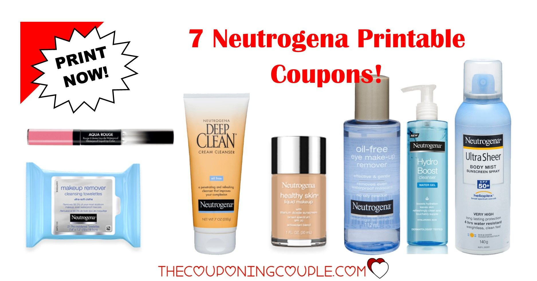 image relating to Neutrogena Printable Coupons identified as 5 Neutrogena Printable Discount coupons ~ $11.50 in just Discounts! PRINT