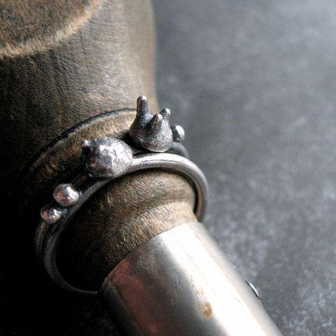 Sterling spore ring set