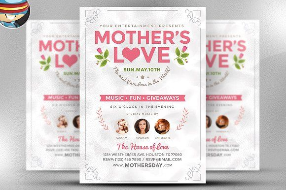MotherS Love Flyer Template By Flyerheroes On Creativemarket