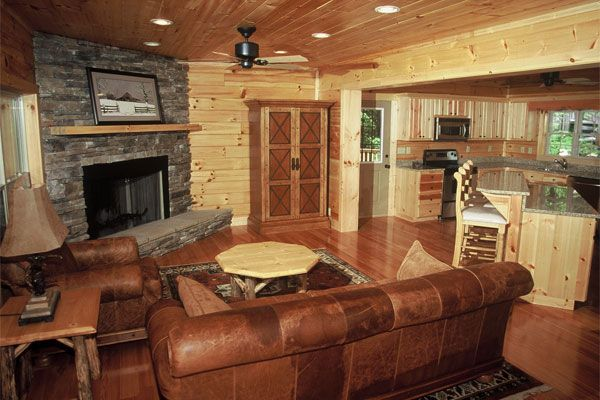 Small log cabins interiors log cabin highlands series 12 for Small log cabin interior design ideas