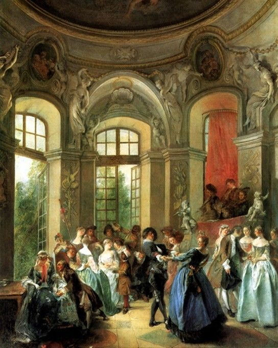 DANCE IN A PAVILION 1730 FRENCH PAINTING BY NICOLAS LANCRET REPRO   French  paintings, Victorian paintings, Canvas art prints