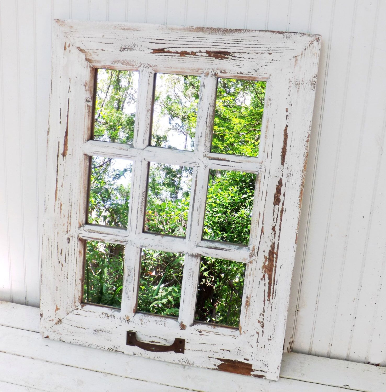 rustic farmhouse window mirror window pane mirror shabby chic mirror large wall mirror