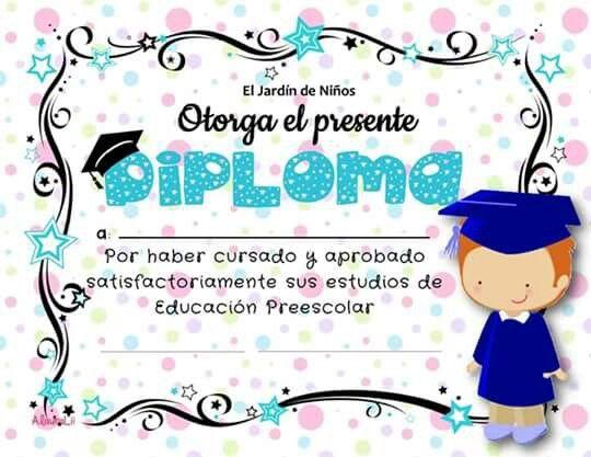diplomas para niños