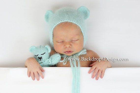 Items similar to newborn angora teddy bear toy only photography prop newborn on etsy