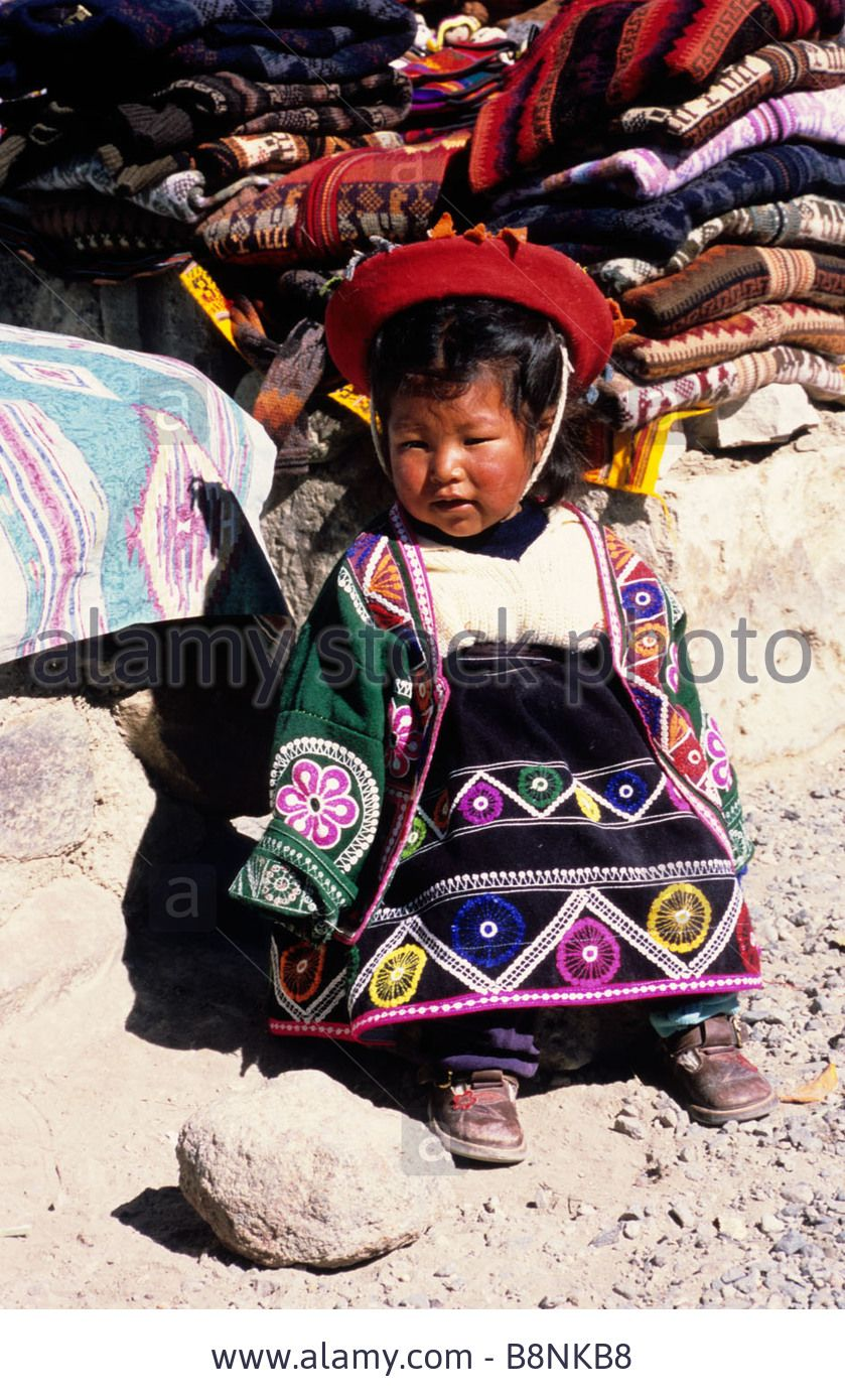 Young peruvian girl in traditional dress
