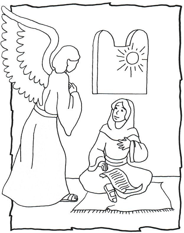 angel gabriel and mary | Angels | Pinterest | Dibujos, Escuela and ...
