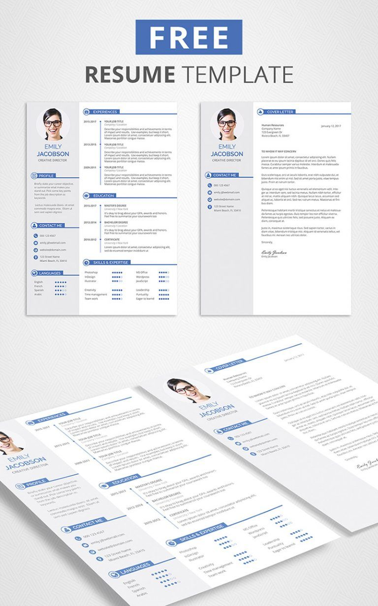 Free CV Template and Cover Letter Graphicadi Free