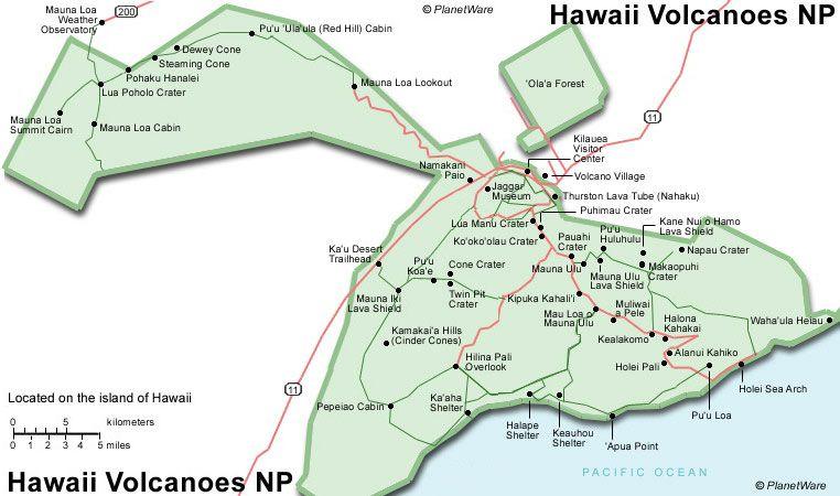 Hawaii Volcanoes NP - Floor plan map | hawaii | Pinterest | Hawaii ...