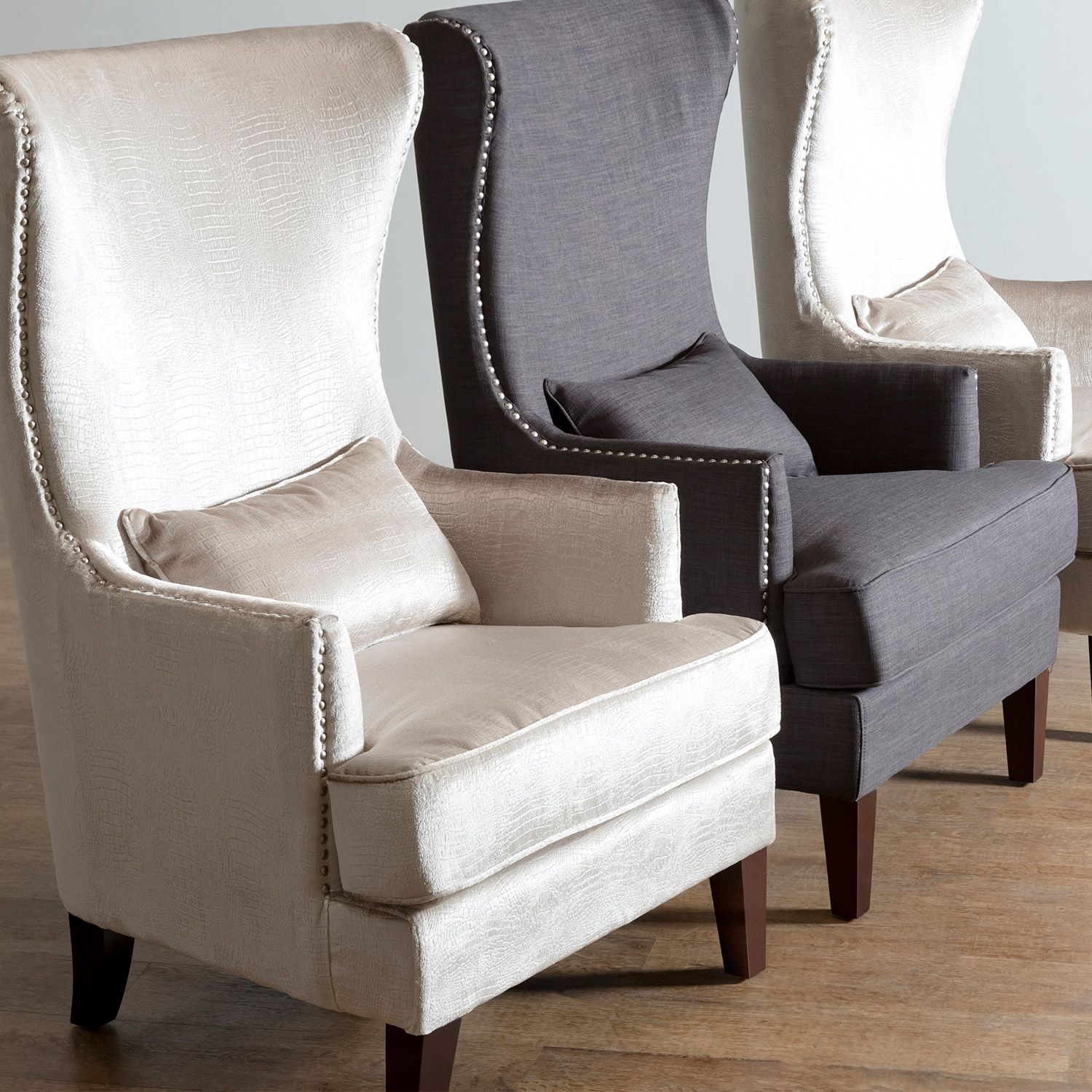 Elizabeth Chairs Wingback Accent Chairs With Nailhead Button