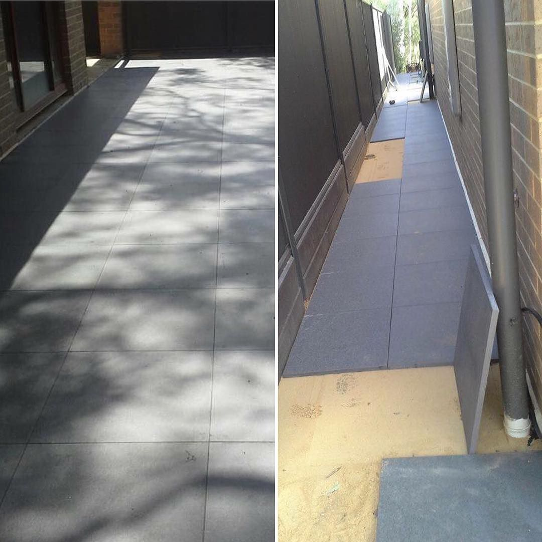 Take A Look At One Of Our Clients Laying 20mm Porcelain Tiles Onto Sand Italiaceramics
