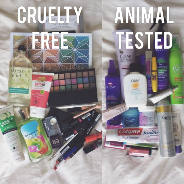 Beauty products cruelty free v animal tested. NYX, elf