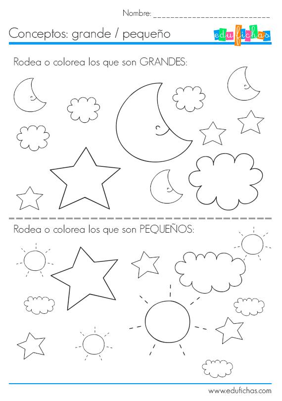 Ejercicios coloreables para niños… | hojas guias | Pinterest | Pre ...