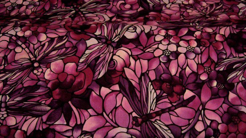 ♥Libellen♥ in Blumen Twilling Garden von ஐღKreawusel-aufgehübschtஐღ  auf DaWanda.com