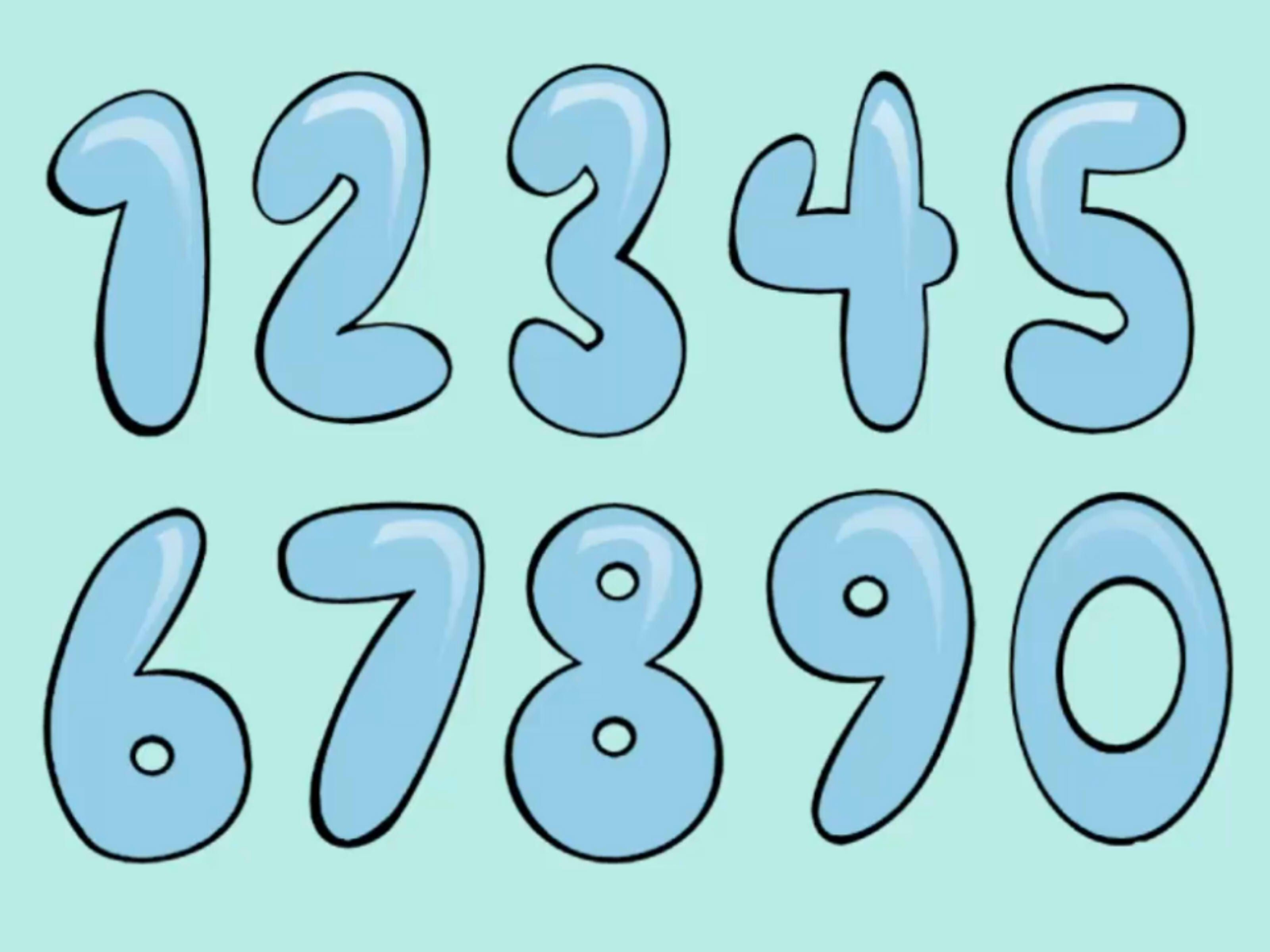 How To Draw Bubble Numbers  Stuff    Number And Free