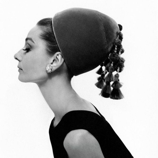Audrey Hepburn Wearing A Givenchy Hat Art Print By Cecil