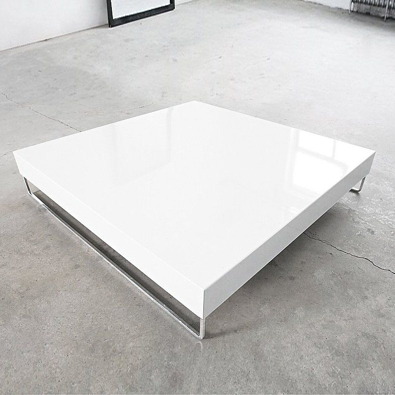 Glossy White Lacquered Coffee Table Innovation Usa 94 9030