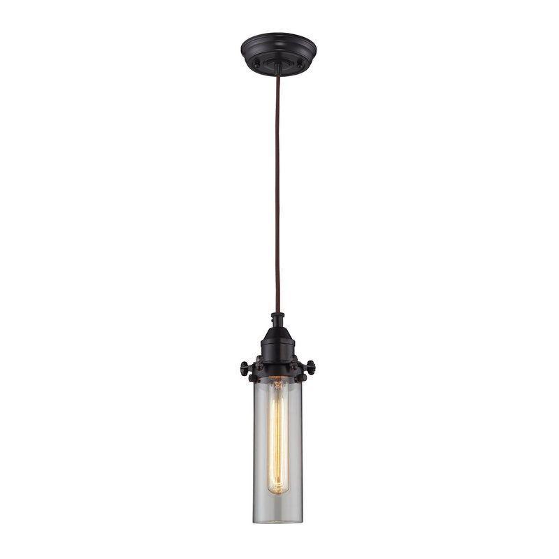 Superior Elk Lighting 66326/1 Fulton 1 Light Pendant Oil Rubbed Bronze Indoor  Lighting Pendants