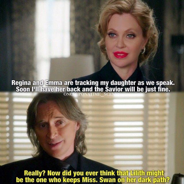 """Did you ever think that Lilith might be the one who keeps Miss Swan on her dark path?"" - Maleficent and Rumple #OnceUponATime"