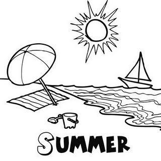 Dibujos para colorear del verano | VERANO | Happy summer holidays