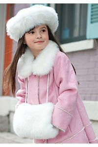 d019beb4d Girls' Faux Fur Muff & Faux Fur Tam Set | Grandkids Are In Style ...