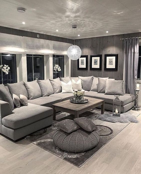 The concept of Modern Interior Design Living Room