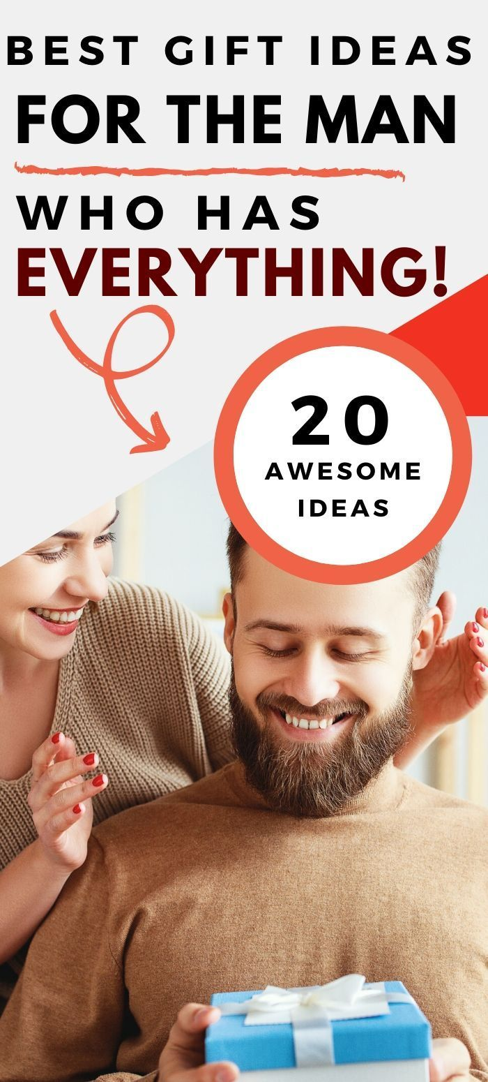 Gift Ideas for the Man Who Has Everything in 2020 | Homemade gifts for men, Gift guide for him ...