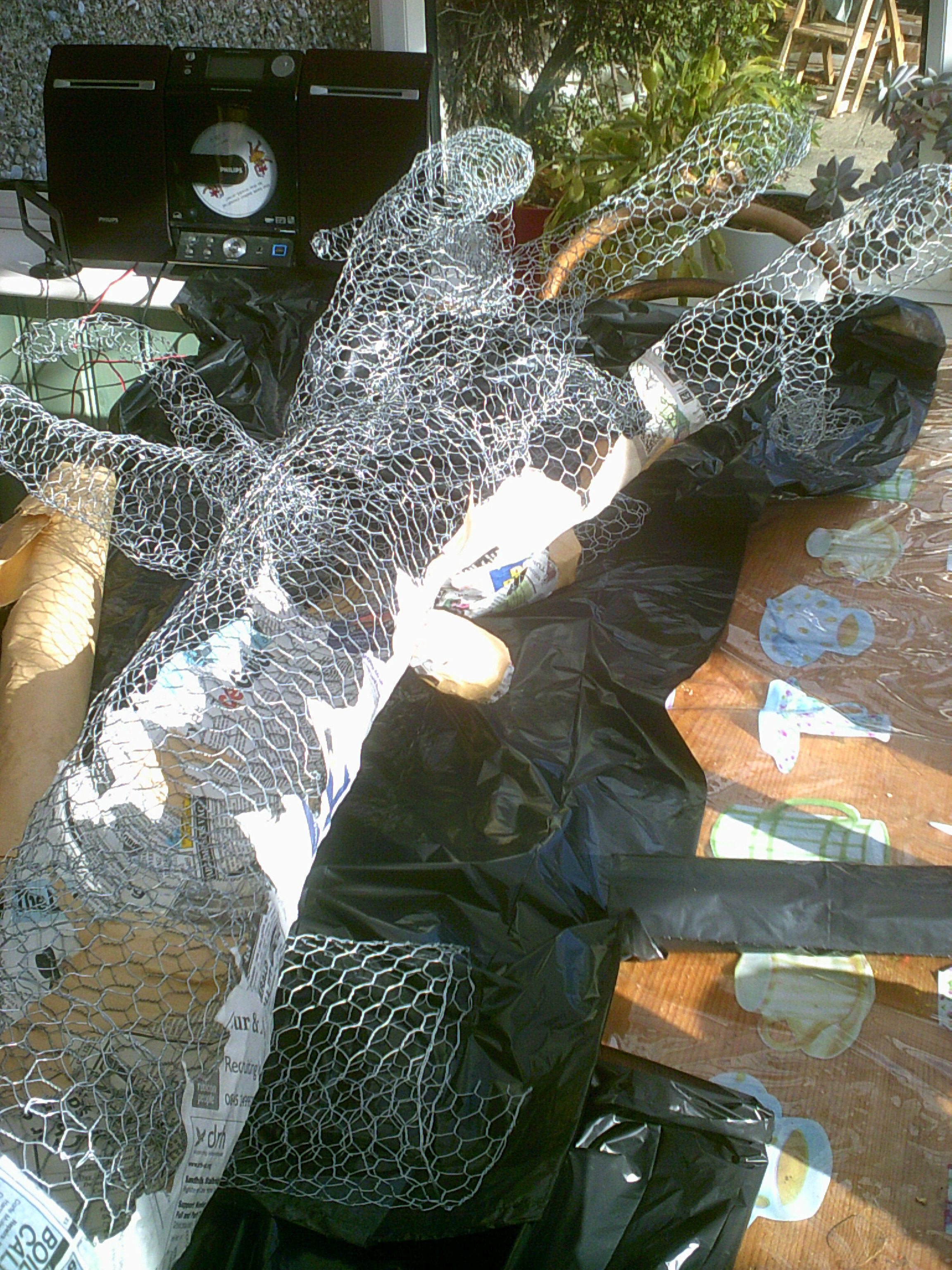 Paper mache tree in progress..   Church crafts & Games   Pinterest ...