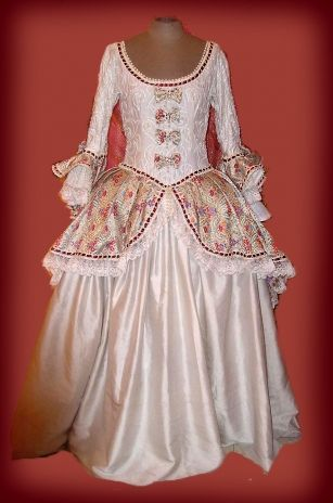 Vestido Era Colonial Latinoamericana Siglo Xviii Siglos