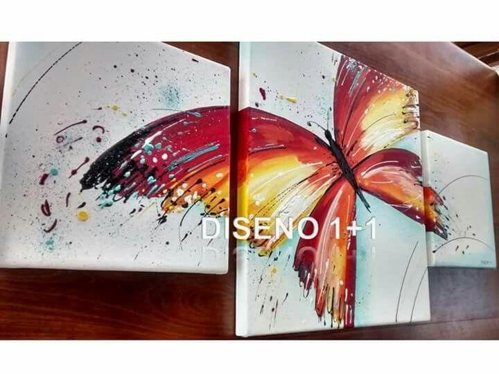 Cuadro mariposa pintado con acrilico sobre lienzo - Ideas para pintar cuadros ...