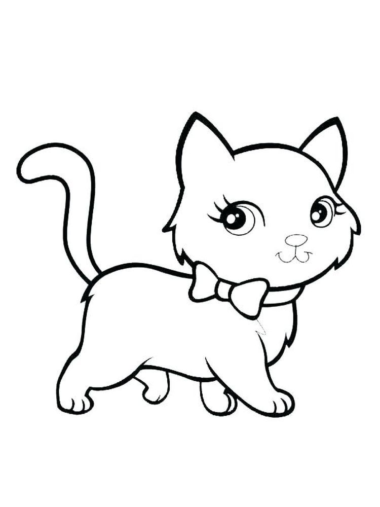 Images Of Kitten Coloring Pages The Kitten Is A New Born Little Cat This Term Is Used For Cats Under Th Cat Coloring Page Animal Coloring Pages Kitten Images