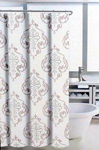 Amazon Com Nicole Miller Regal Medallion Fabric Shower Curtain